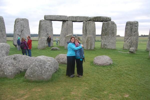 Inside Stonehenge at dawn