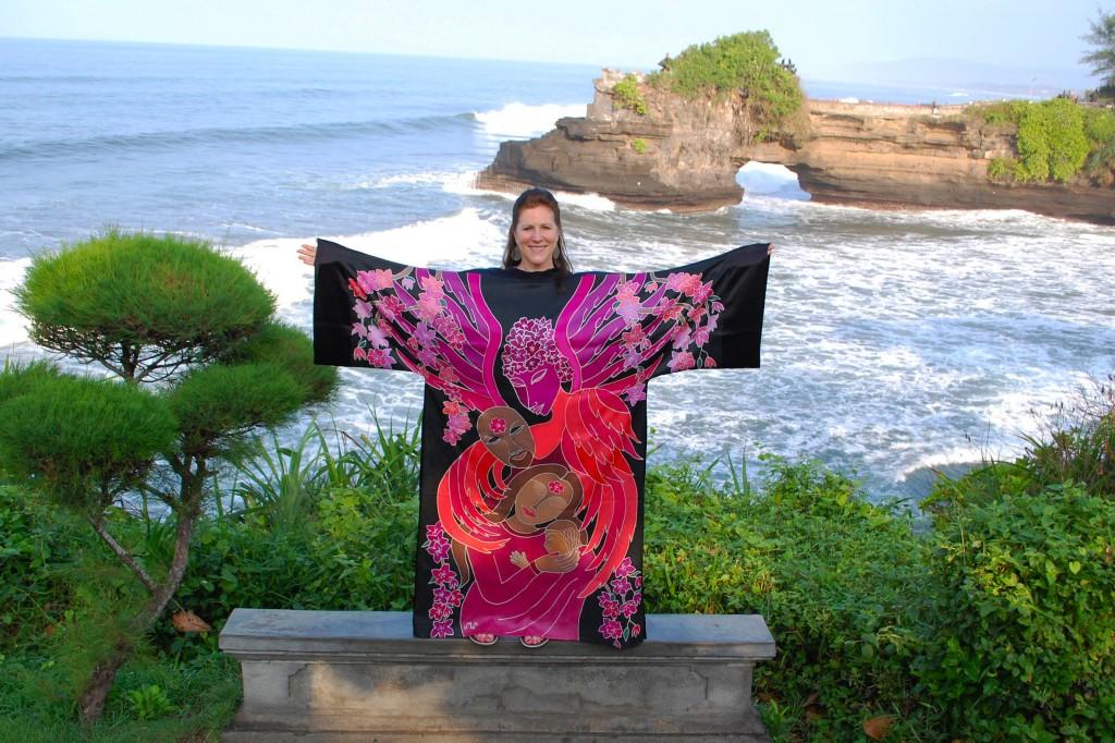 Nurturing Robe, Tanah Lot Temple, Bali