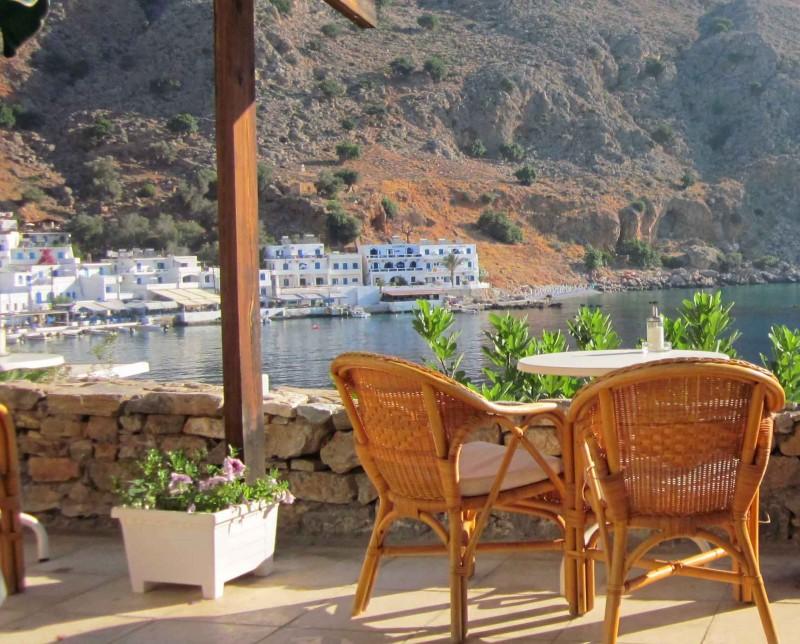 Chilling in Loutro Crete