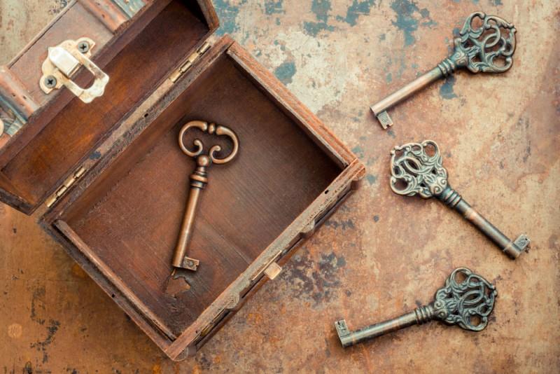 Keys and box