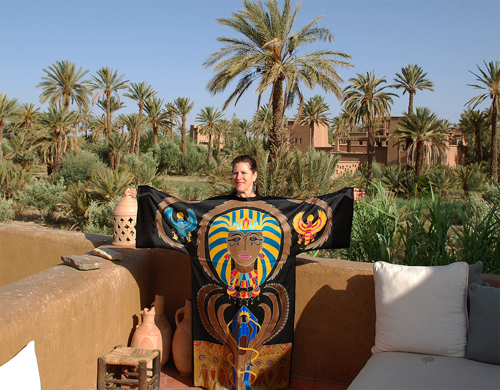 Knowledge Robe in Skoura Palm Desert, Morocco