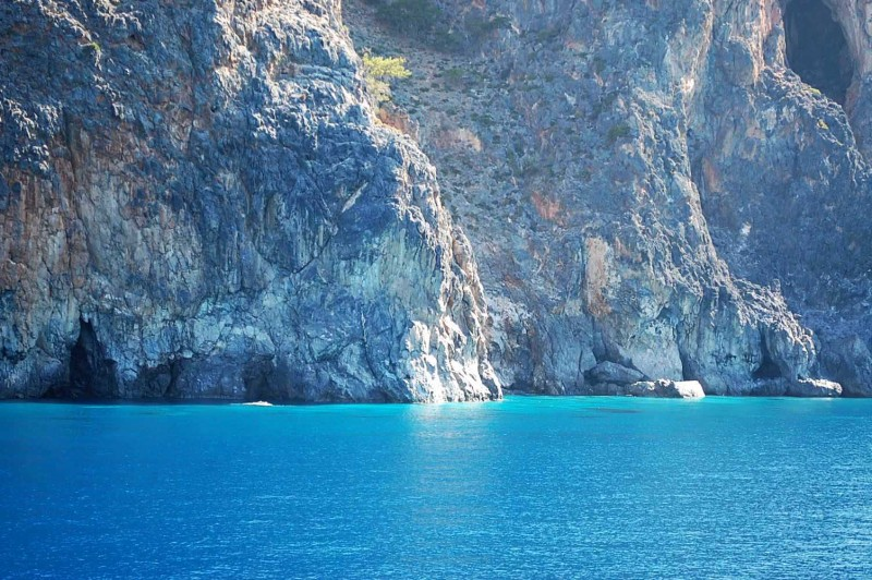 Sea Caves Loutro Crete